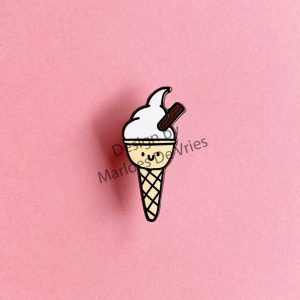mr whippy 99 ice cream enamel pin